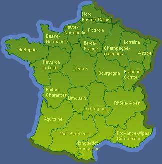 Carte de France metropolitaine